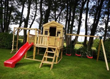 Serena Playhouse on Stilts with Monkey Bars