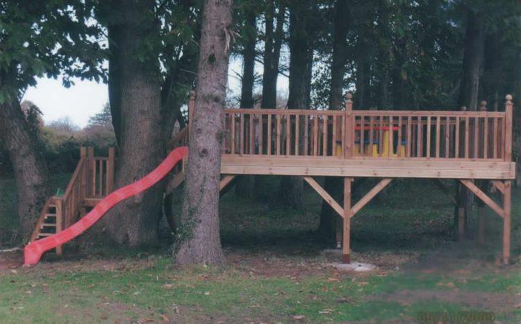 Raised Timber Decking