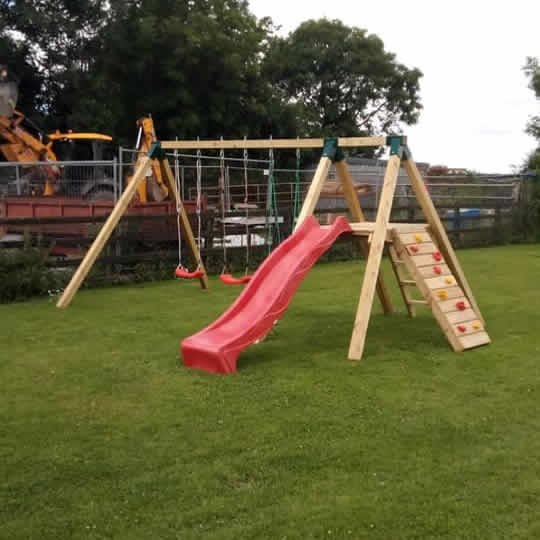 Tara Swing Set with Slide and Seesaw